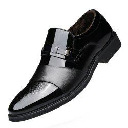 Winter Warm Cashmere Pointed Wedding Shoe in England Men'S Business Suits -