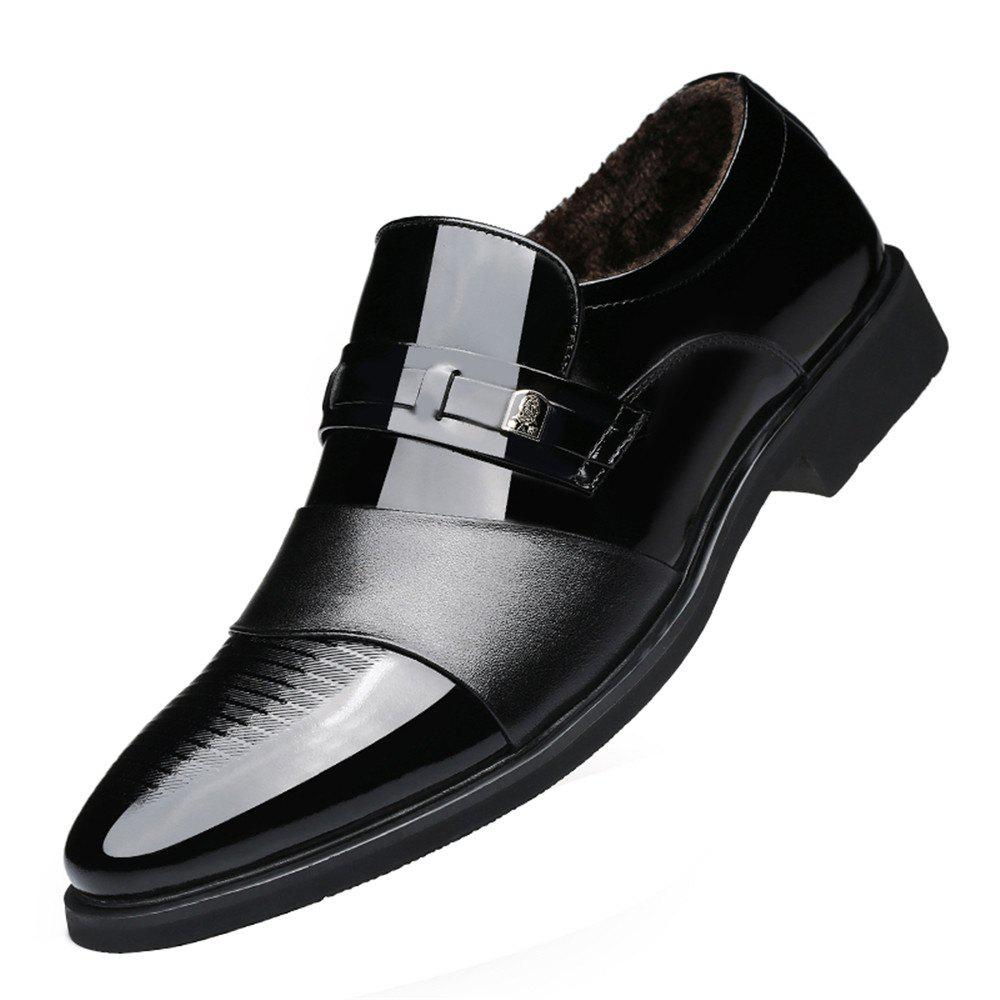 Sale Winter Warm Cashmere Pointed Wedding Shoe in England Men'S Business Suits