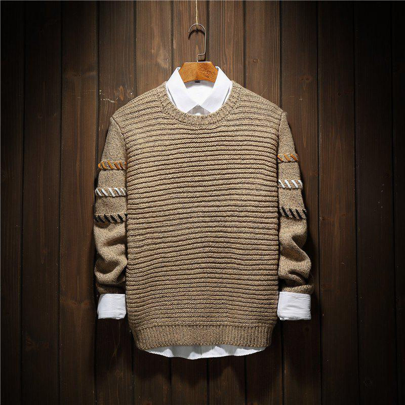 Online Young Fashion Leisure Knitwear Sleeves Men'S Sweaters