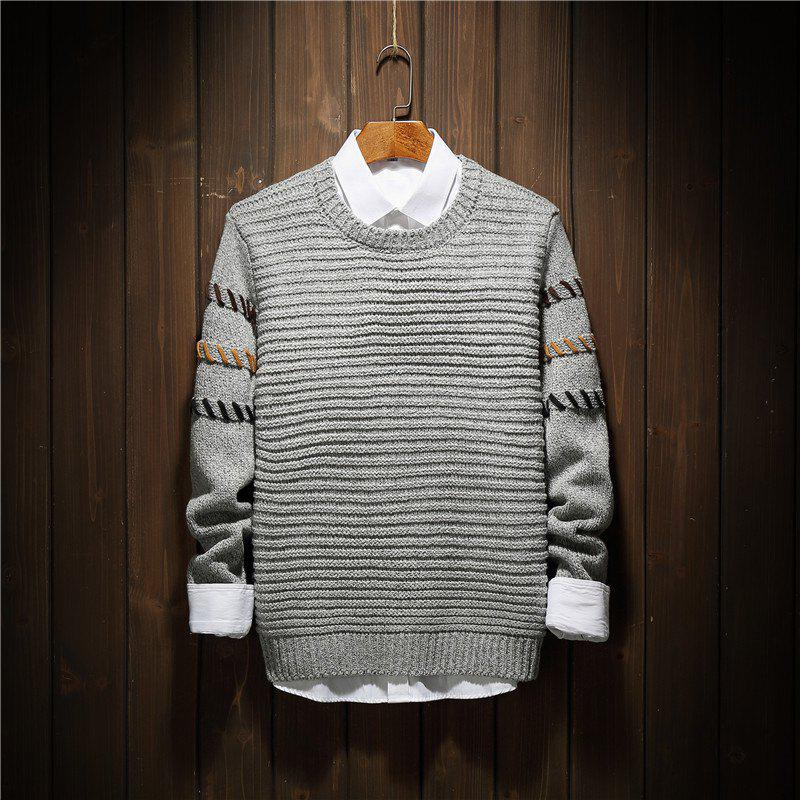 Discount Young Fashion Leisure Knitwear Sleeves Men'S Sweaters