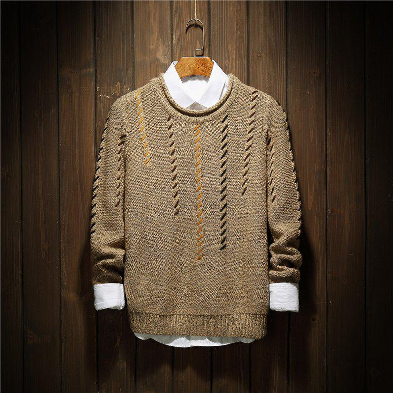 Online Men'S Personality Fashion Bottoming Sweater Fashion Collar Sweater