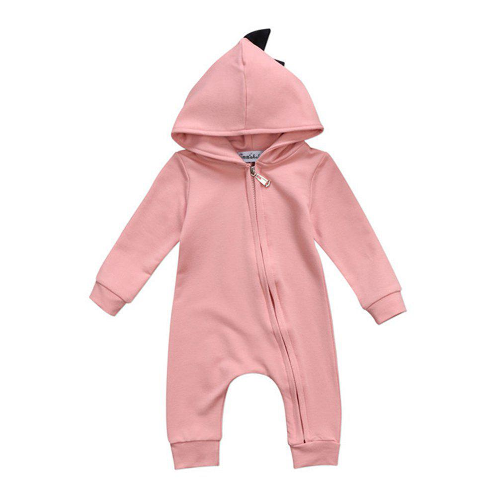 Outfit Baby Boy Girl 3D Dinosaur Costume Solid Pink Gray Rompers Warm Spring Autumn Cot