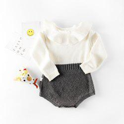 Baby Girl Clothing Rompers Wool Knitting Tops Long Sleeve Romper Warm Outfits -