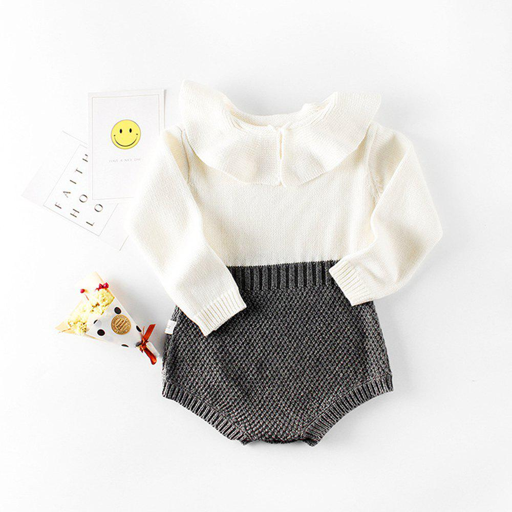 Fancy Baby Girl Clothing Rompers Wool Knitting Tops Long Sleeve Romper Warm Outfits