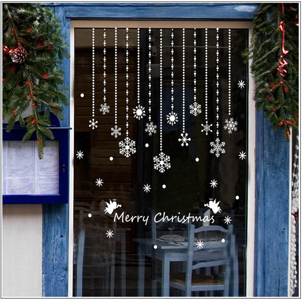 2019 Christmas Snowflake Window Winter Wall Stickers For