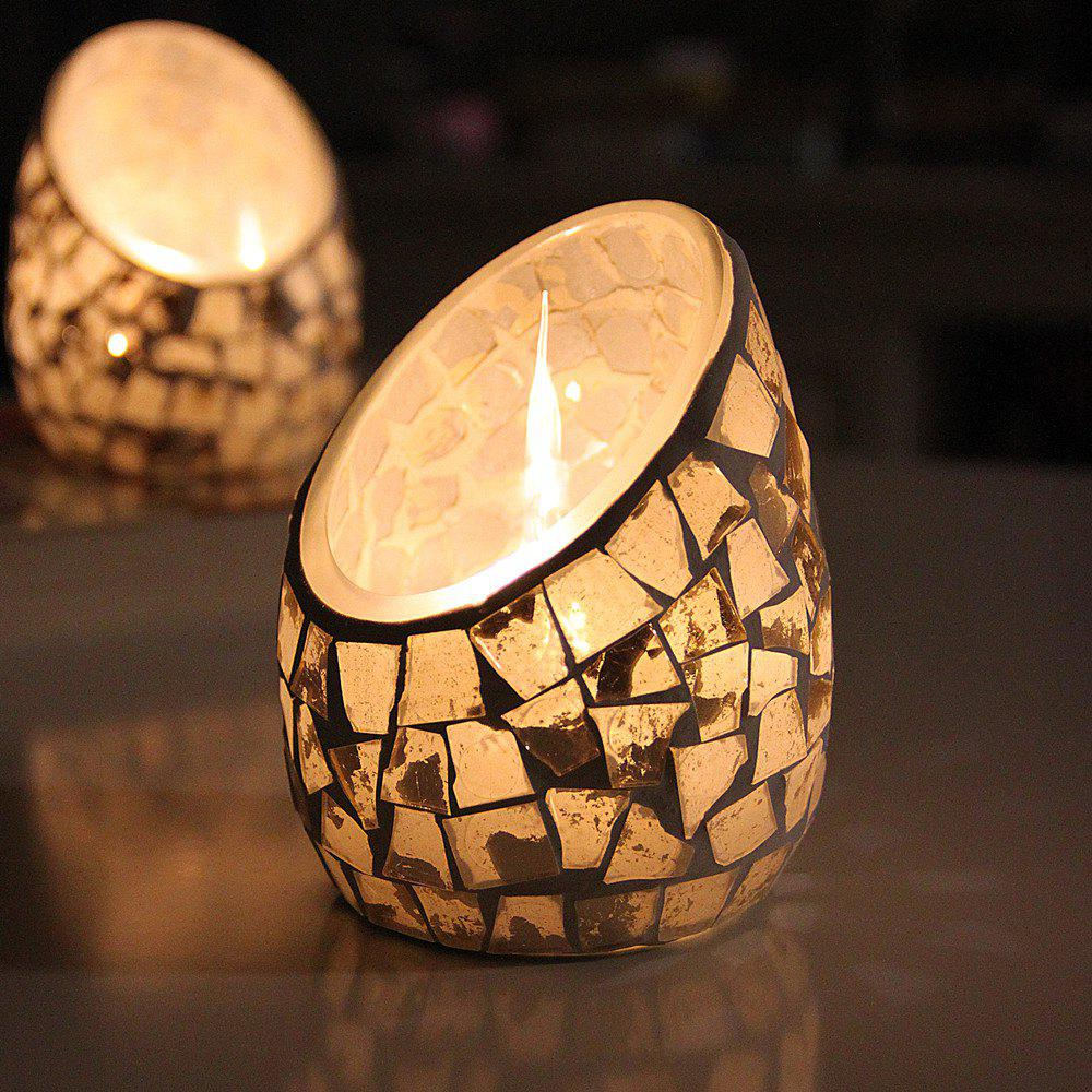Affordable Unique Design Mosaic Handmade Glass Candle Holder Party Wedding Decortions