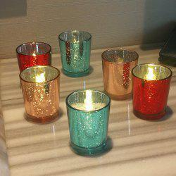 6PCS Colored Glass Candle Holder Modern Simple Style Party Wedding Decoration -
