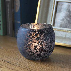 1Pcs Candle Holder European Style Colored Glass Ball Design Home Display -