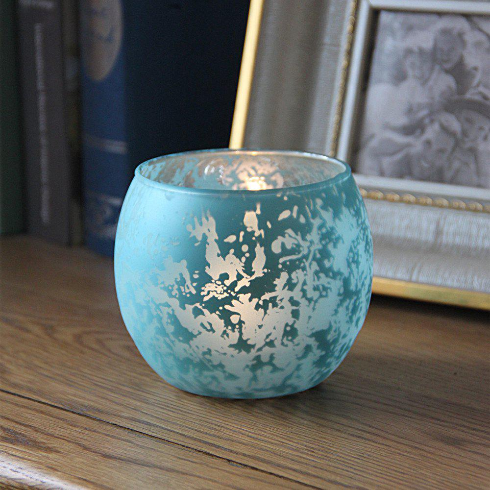 Affordable 1Pcs Candle Holder European Style Colored Glass Ball Design Home Display