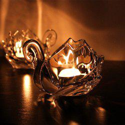 1PCS Candle Holder Transparent Glass Swan Candlelight Dinner Wedding Party Decor -