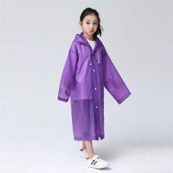 Transparent Clear Reusable Raincoat with Hood and Sleeves for Unisex Children -