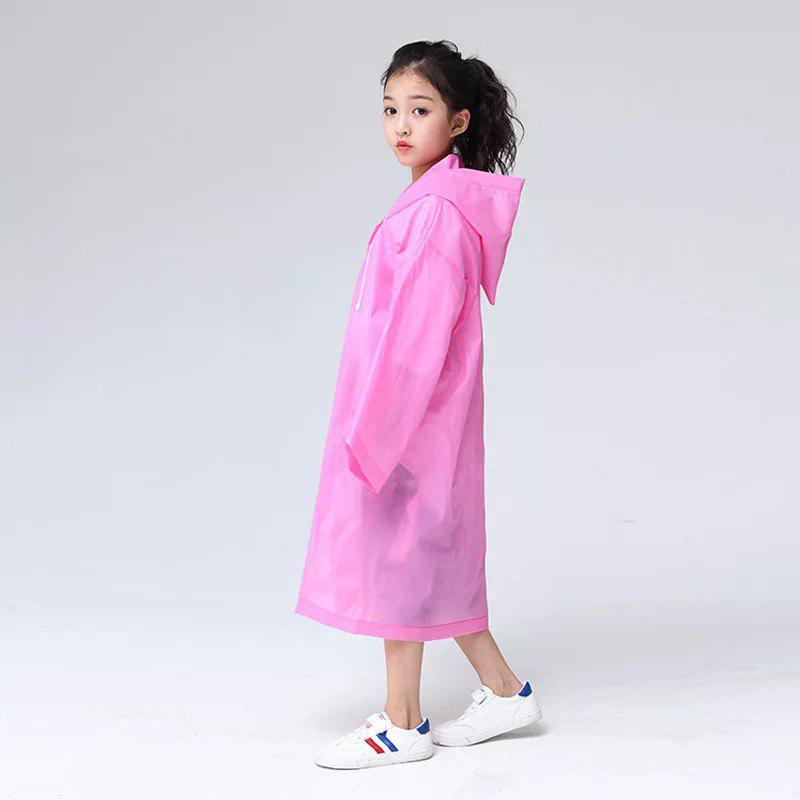 Best Transparent Clear Reusable Raincoat with Hood and Sleeves for Unisex Children