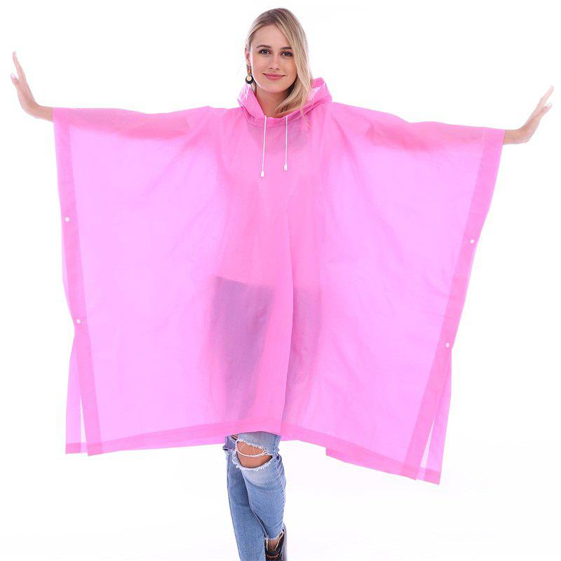Store EVA Waterproof Rain Poncho Raincoat with Hoods for Outdoor Camping Theme Park