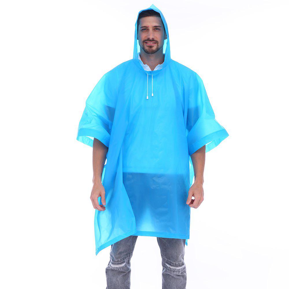 Outfit EVA Waterproof Rain Poncho Raincoat with Hoods for Outdoor Camping Theme Park