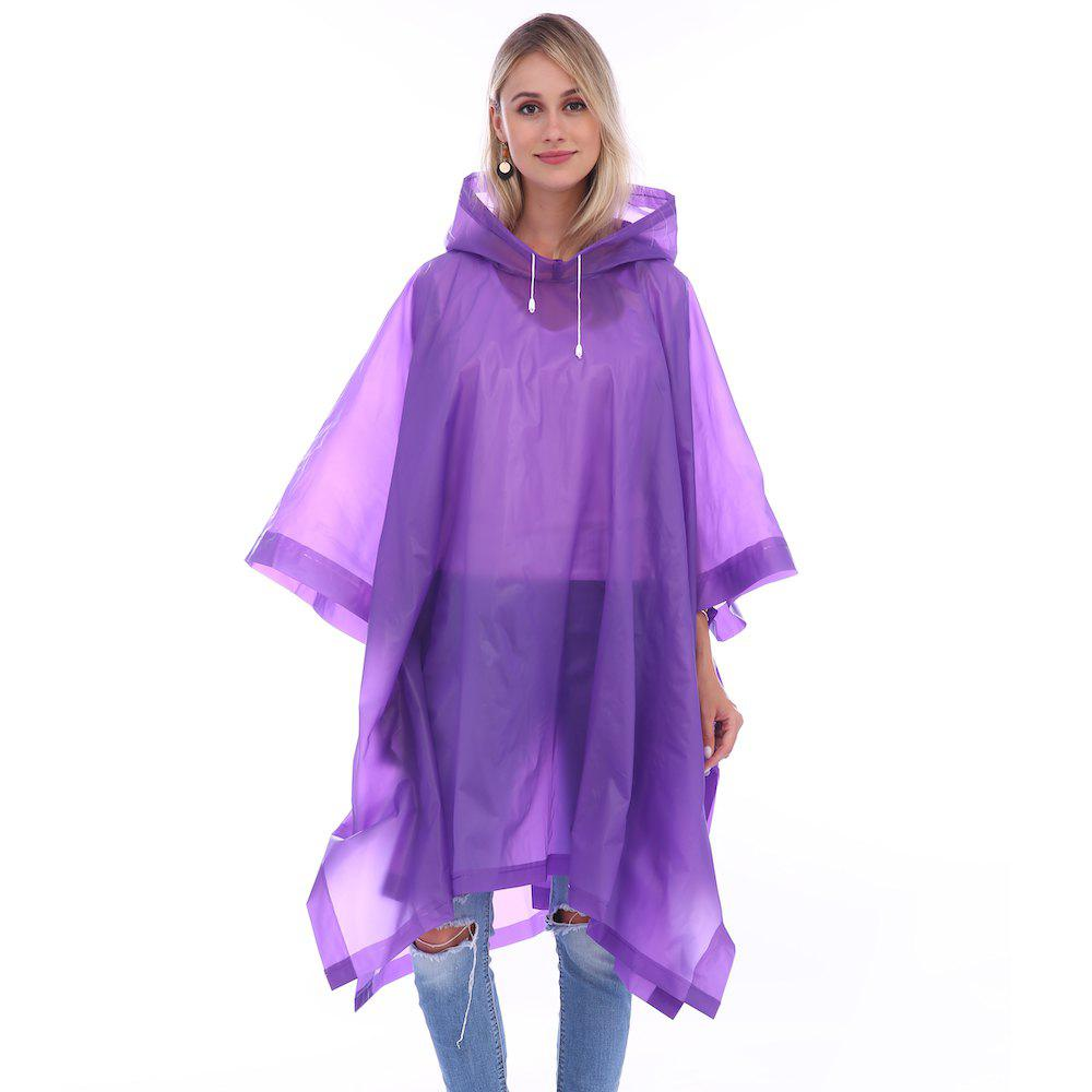New EVA Waterproof Rain Poncho Raincoat with Hoods for Outdoor Camping Theme Park