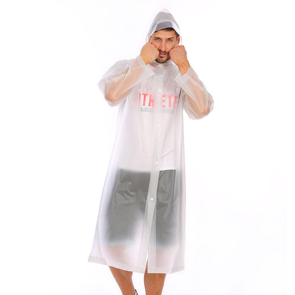 Best Adult PVC long thick rain poncho raincoat with transparent hoods for outdoor