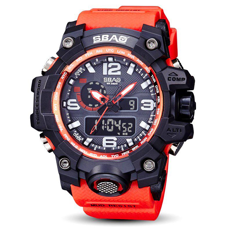 Sale Fashion sports multi-function outdoor electronic silicone watch
