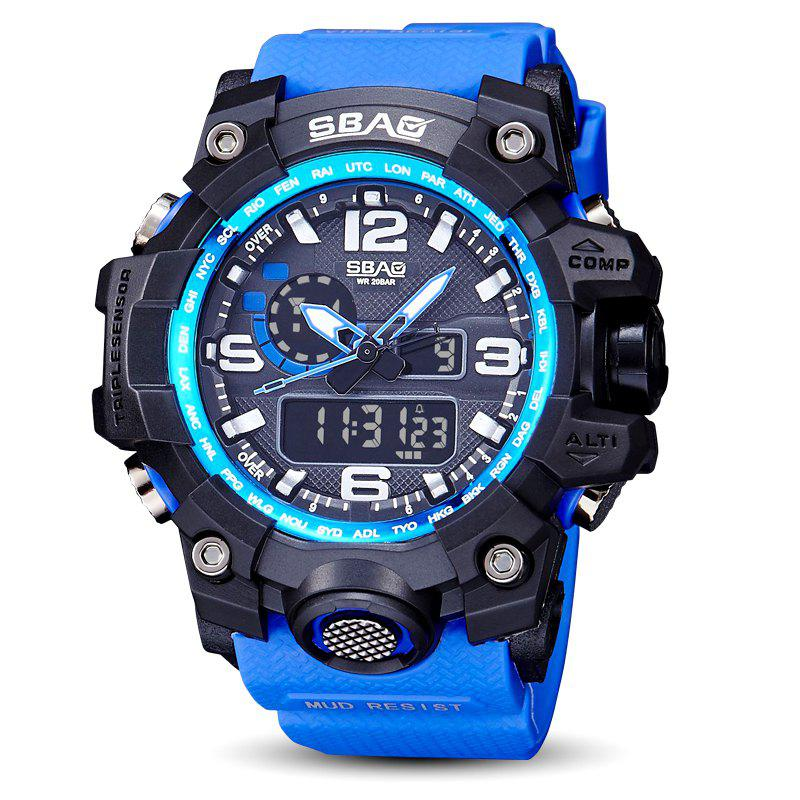 Online Fashion sports multi-function outdoor electronic silicone watch