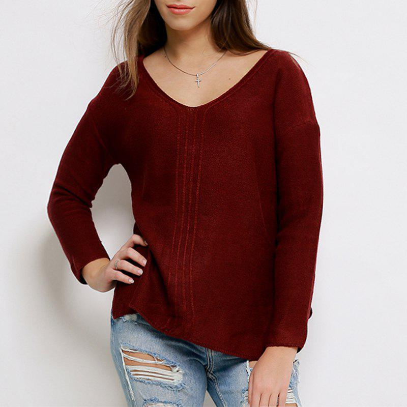 07b5f4b8462 Buy New Women Autumn Winter Cashmere Sweater V-Neck Solid Pullovers Long  Sleeve