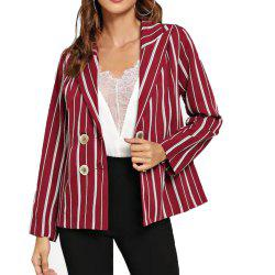 Woman'S Striped Long Sleeve  Suit -