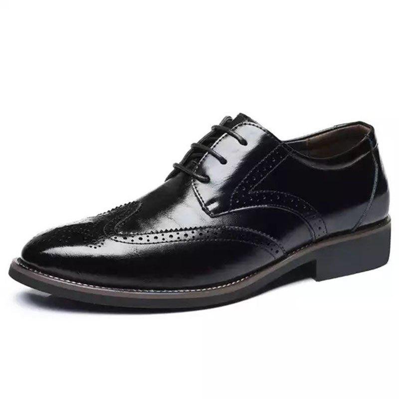 Chic Business Casual Men's Shoes Brock Carved Men's Dress Office Men's Leather Shoes