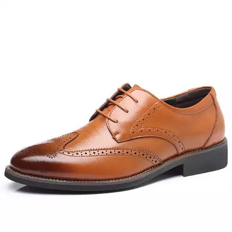 New Business Casual Men's Shoes Brock Carved Men's Dress Office Men's Leather Shoes
