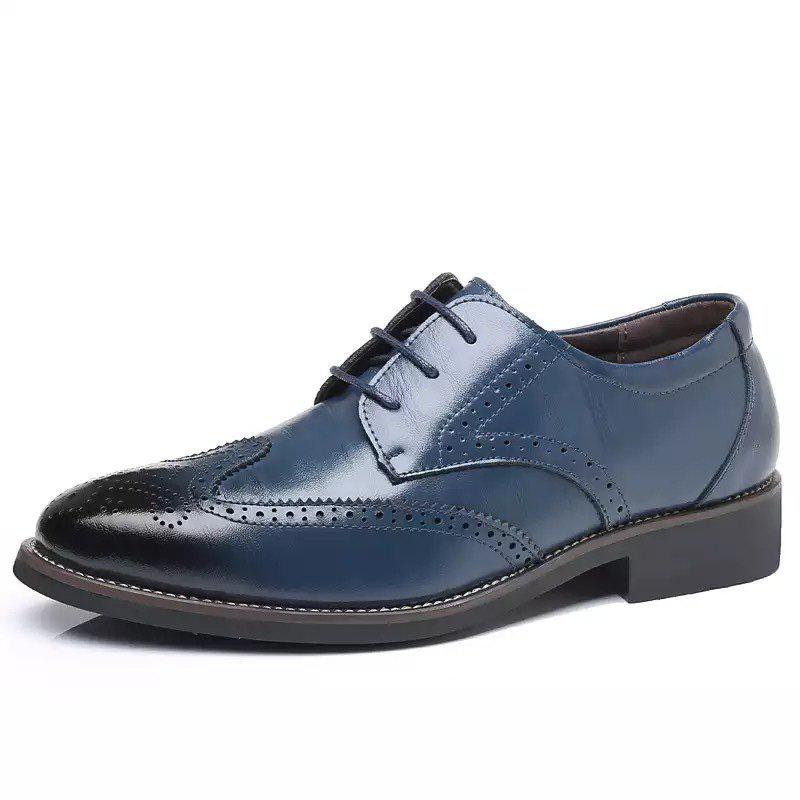 Discount Business Casual Men's Shoes Brock Carved Men's Dress Office Men's Leather Shoes