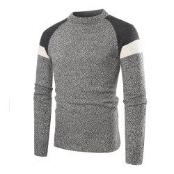 Men's Casual Round Neck Multicolor Long Sleeve Sweater -