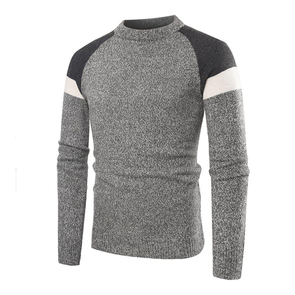Hot Men's Casual Round Neck Multicolor Long Sleeve Sweater