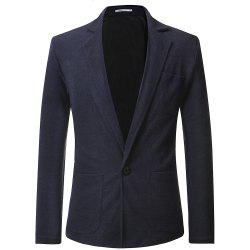 Men's Casual Lapel Solid Color Long Sleeve Sweater -