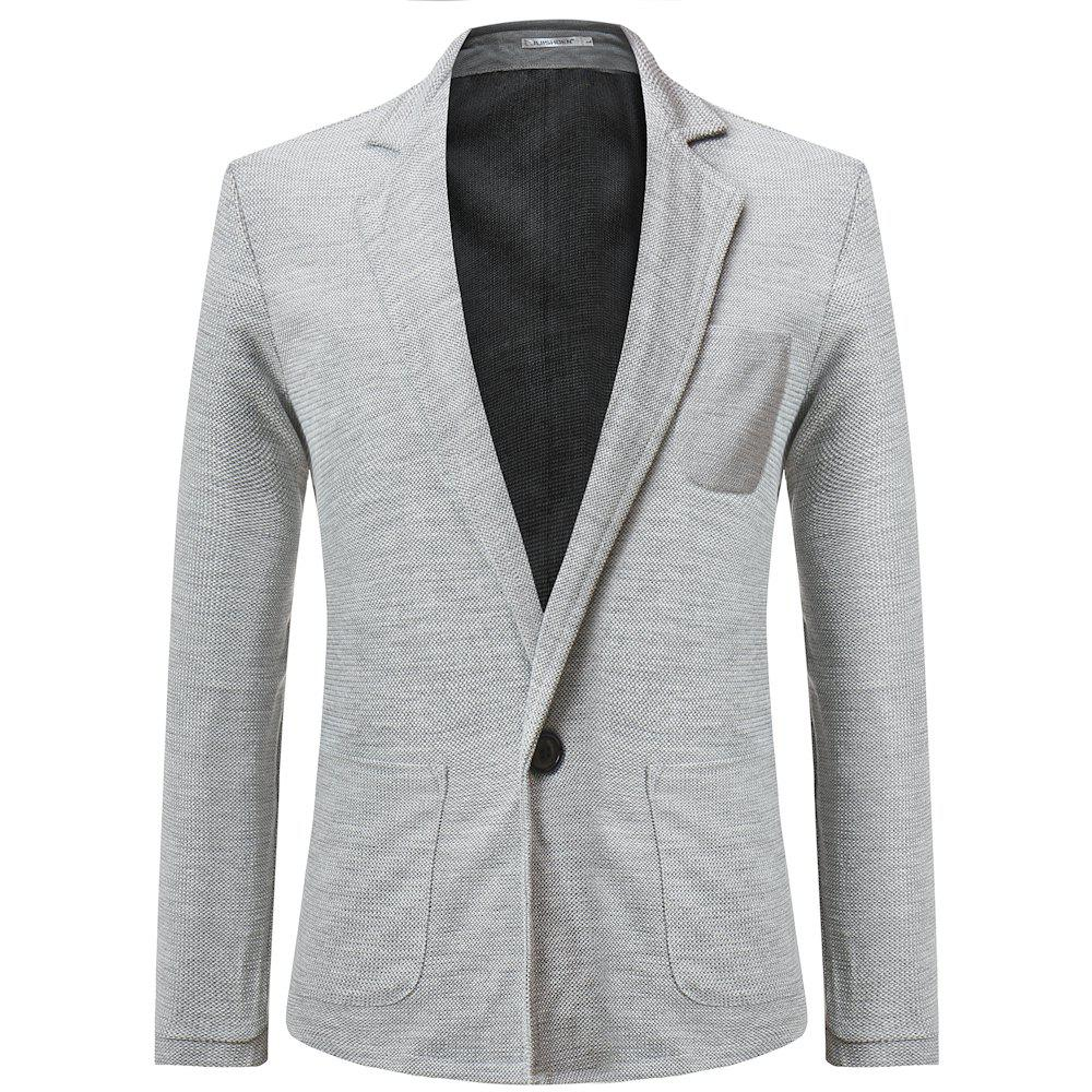 New Men's Casual Lapel Solid Color Long Sleeve Sweater