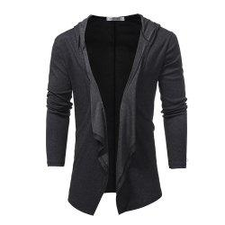 Men's V-neck Solid Color Cardigan Long Sleeve Jacket -