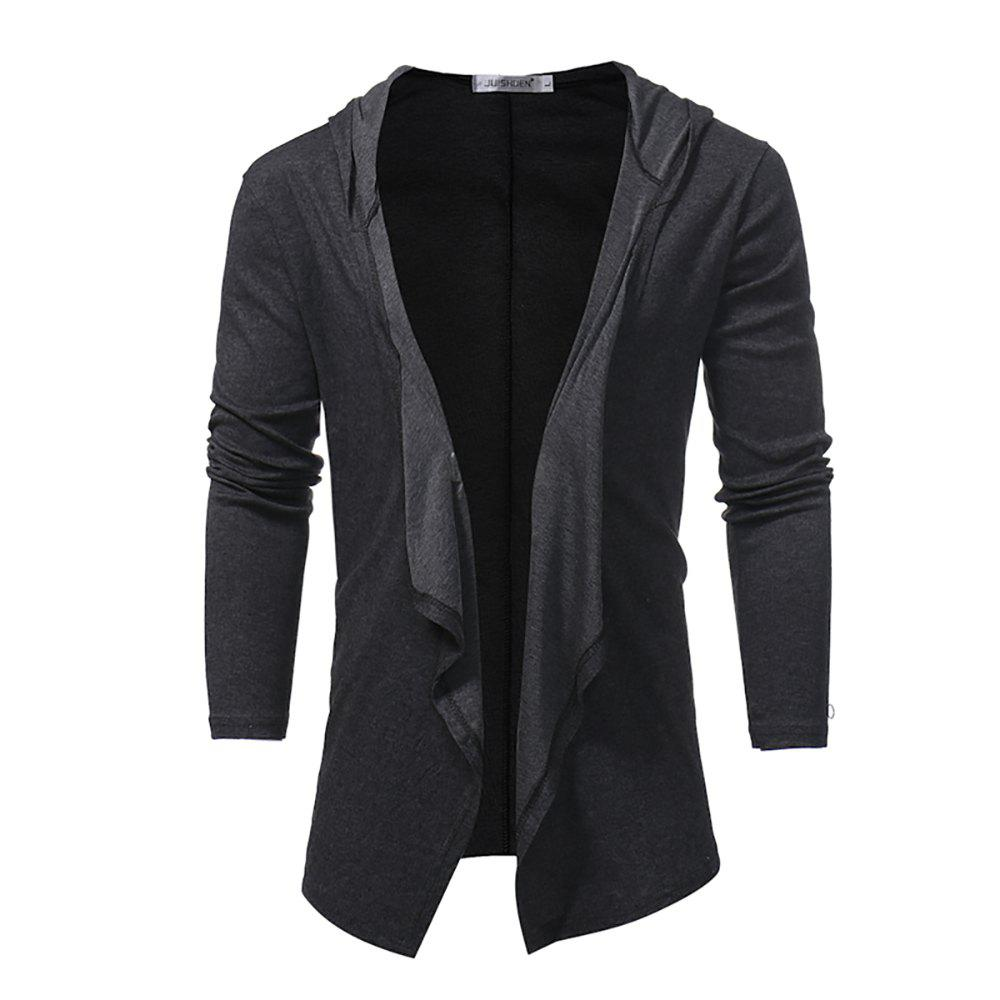 Sale Men's V-neck Solid Color Cardigan Long Sleeve Jacket