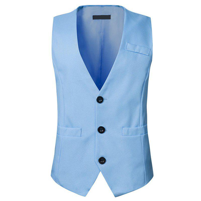 Latest Solid Color Men's Casual Vest Waistcoat