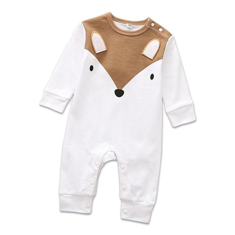 Hot Baby Boys Romper Girls Playsuits Cotton Long Sleeve Animal Baby Clothes
