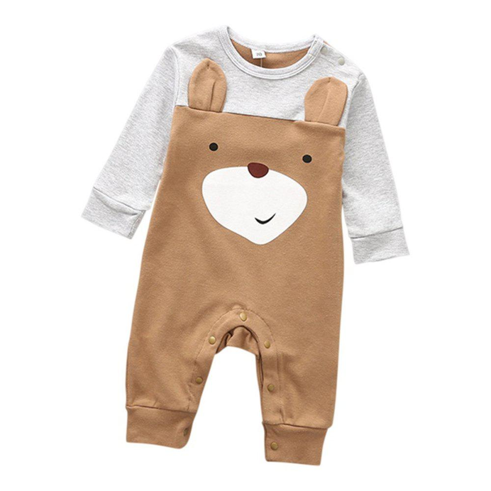 9feeccbfce6 Baby Boys Romper Girls Playsuits Cotton Long Sleeve Animal Baby Clothes - 95