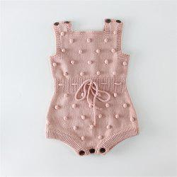 Baby Girl Knitted Clothes Autumn Knit Baby Rompers Girl Pompom -