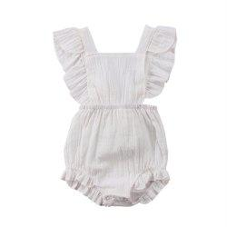 Baby Girls Ruffles Romper Backless Jumpsuit Outfits Clothes Sunsuit -