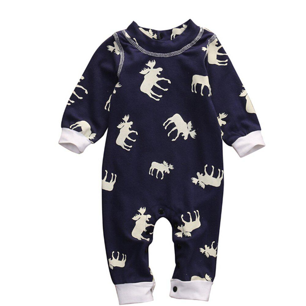 Discount Baby Girl Boy Xmas Clothes Long Sleeve Romper Jumpsuit Pajamas Clothing