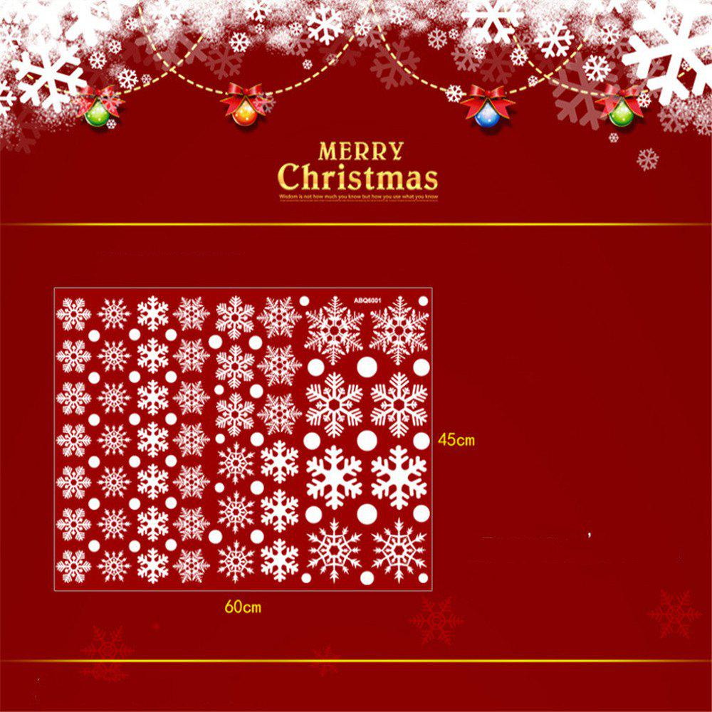 discount christmas stickers for window merry christmas snowflake art wall sticker window