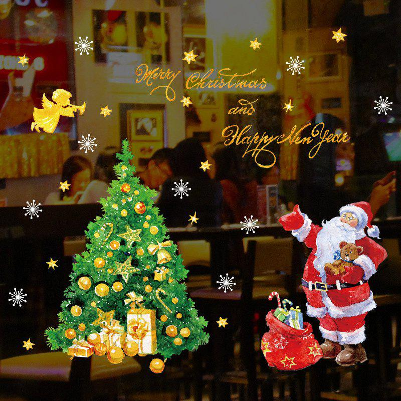 Sale Christmas Tree Santa Claus Window Glass Sticker SK9243