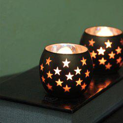 Star Pattern Glass Candle Holder Wedding Party Proposal Bar Decorations -