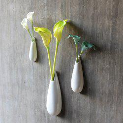 Modern Style Wall Mounted Flower Vases Modern Unique Solid Ceramic Hanging Decor -