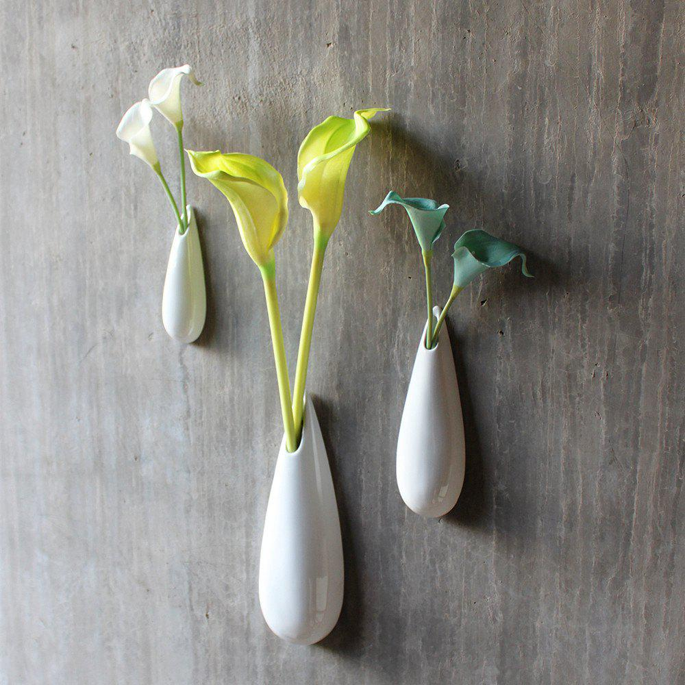 Fashion Modern Style Wall Mounted Flower Vases Modern Unique Solid Ceramic Hanging Decor