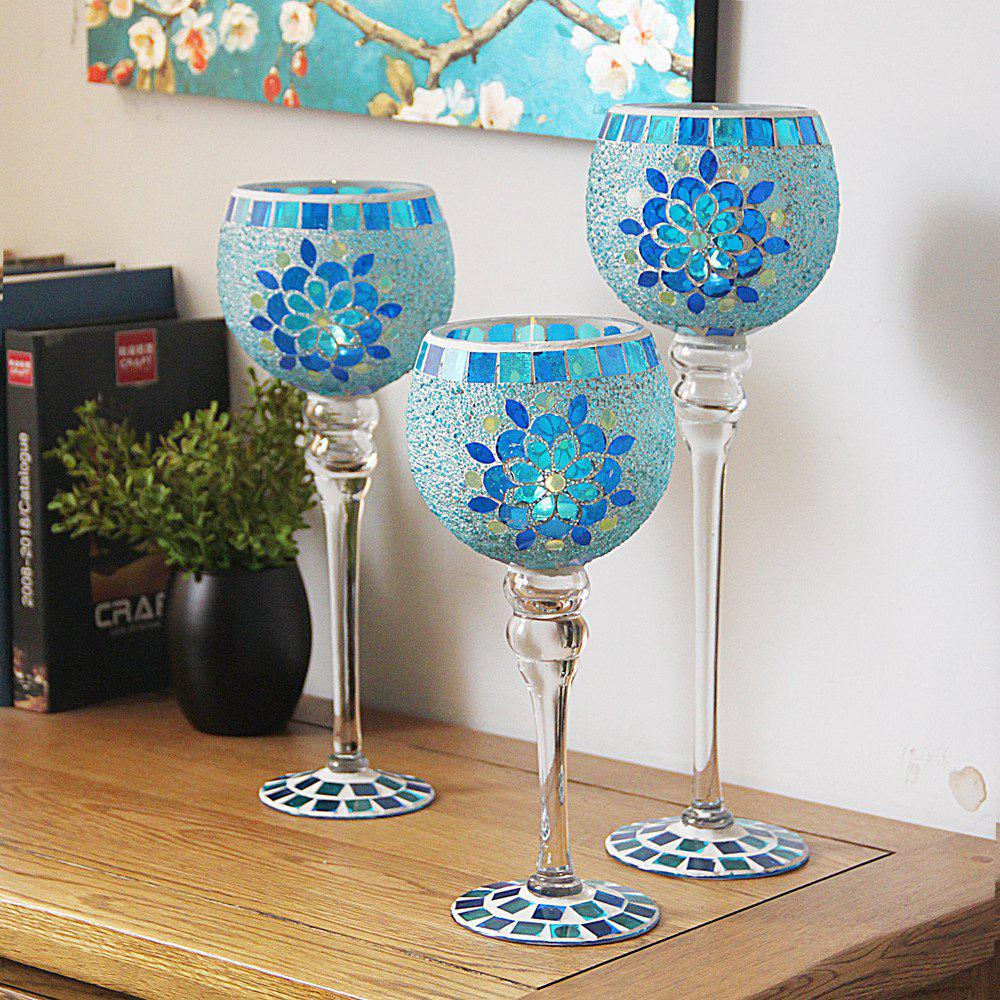 Trendy 3 Pcs Candle Holders European Style Cup Shape Romantic Stylish Displays