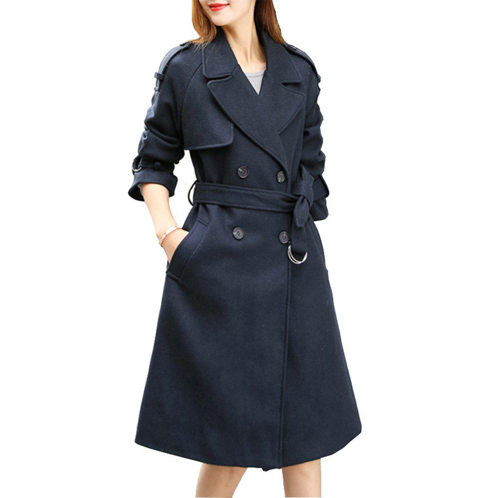 Outfit Long Slim Fitting Woolen Coat