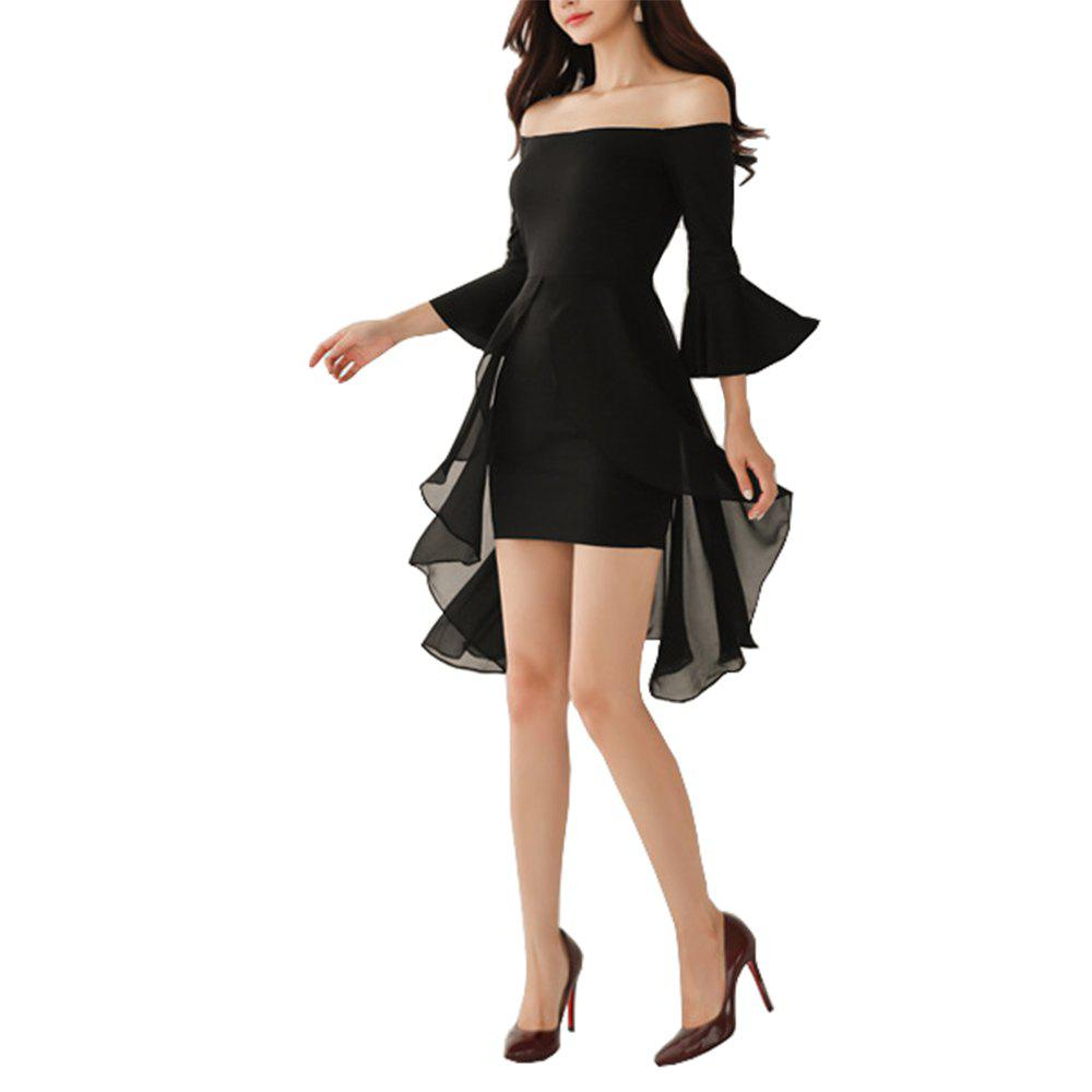 Outfits Ladies Sexy Strapless Slim-fitting  Dress