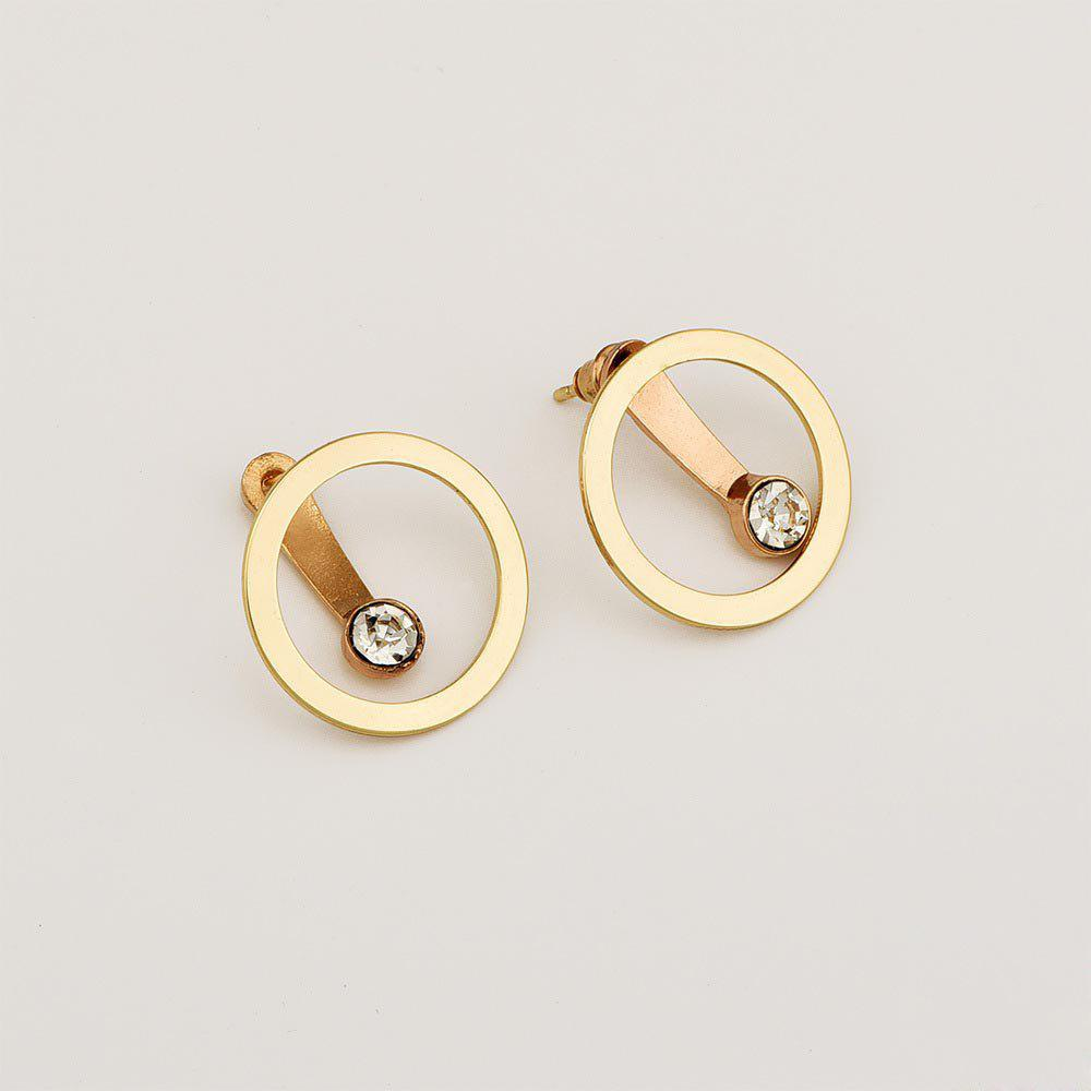 5efa9336d Latest Women'S Circle Back Hanging Earrings New Exaggerated Fashion  Personality