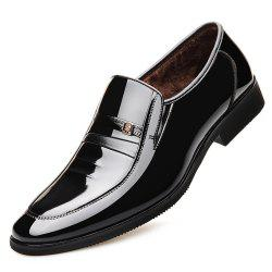 New Business Suits Winter Shoes Comfortable Patent Leather and Fashion -