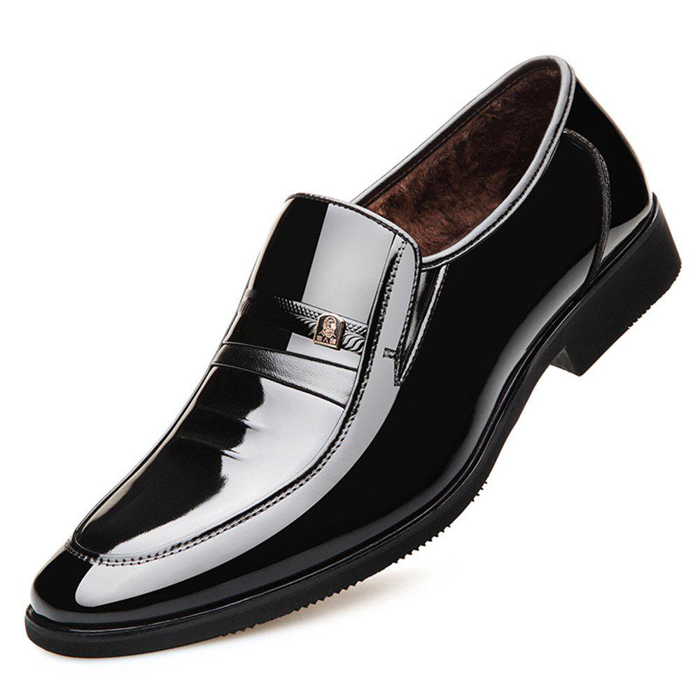 Latest New Business Suits Winter Shoes Comfortable Patent Leather and Fashion